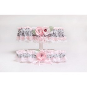 Garter (pink and silver) (J552-552P)